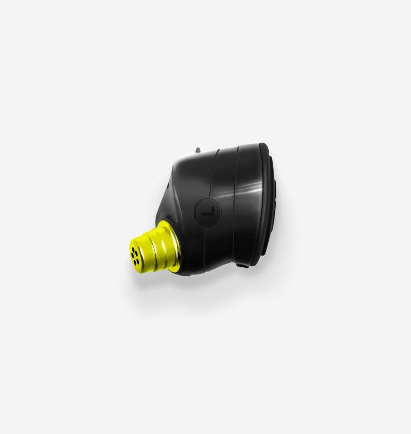 Run XT - Black/Flash Left Earbud