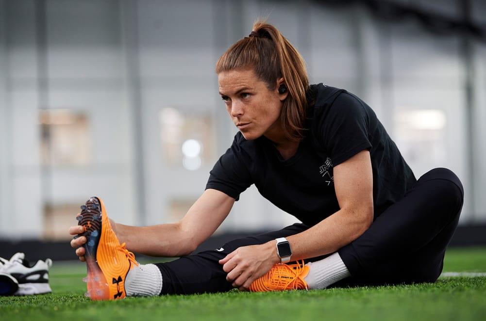 Kelley O'Hara training with Vista